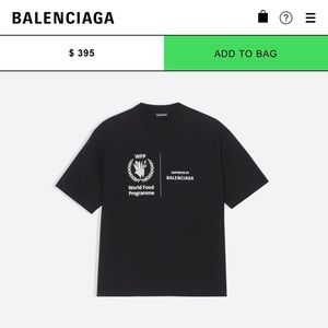 Balenciaga Supports World Food Programme Shirt